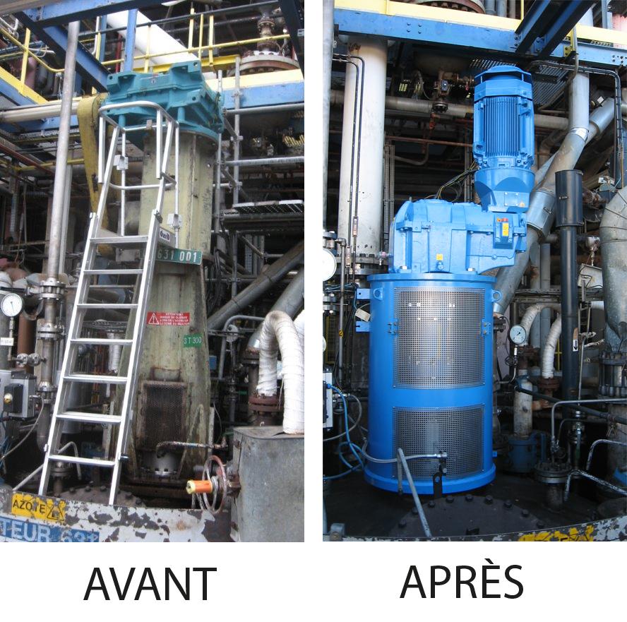 Maintenance et rénovation d'un mélangeur industriel