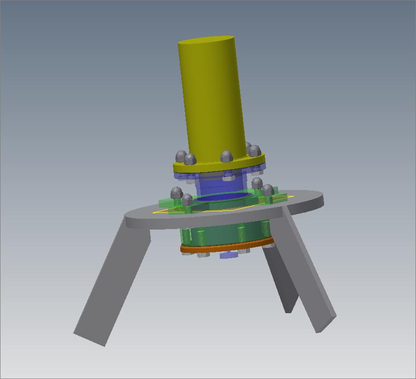 DAO 3D d'un palier de fond pour agiteur