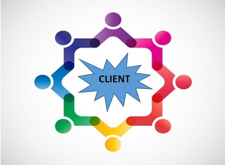 Schéma organiséation centrée client